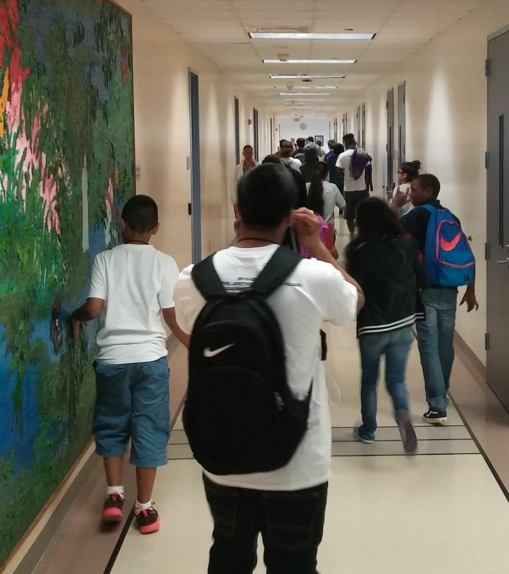 student hallway