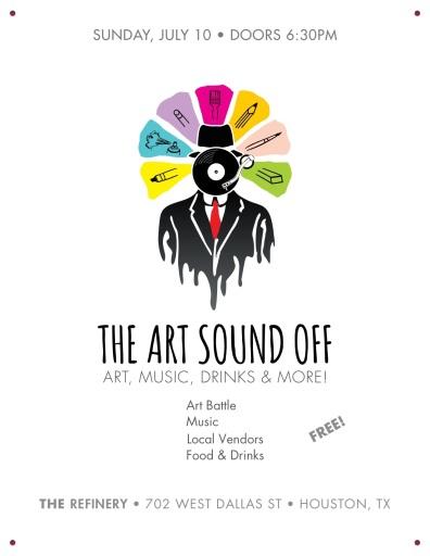 art sound off flyer